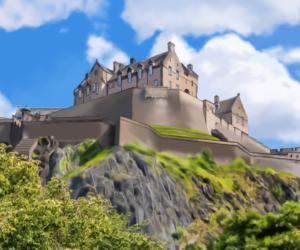 Edinburgh castle drawing